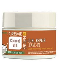 CREME OF NATURE  Coconut  Curl Repair Leave In Cond 11oz