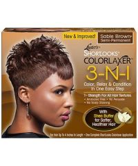 LUSTER'S Colorlaxer Relaxer Kit 3 In 1 Sable Brown