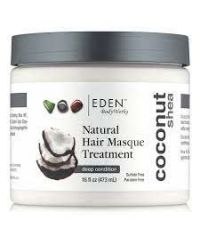 Eden - Coconut Shea Natural Hair Masque Treatment - 16 Fl Oz / 473ML