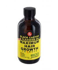 Eco Styler - Black Castor Oil & Flaxseed Oil - Maximum Hair Growth Formula - 4 Fl Oz / 118ml