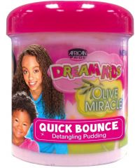 AFRICAN PRIDE Kids Olive Quick Bounce Pudding 12oz